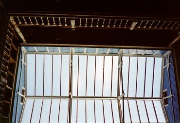Skylight above 3 story atrium